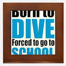 diving Framed Tile