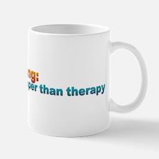 Running: Cheaper than Therapy Mug