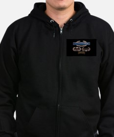 CIB Airborne Air Assault Ranger Zip Hoodie
