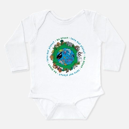 BEGREENLUV.png Long Sleeve Infant Bodysuit