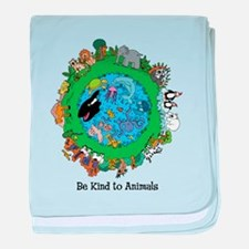 Be Kind To Animals.png baby blanket