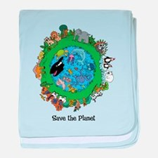 SAVE THE PLANET.png baby blanket
