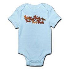 Running Weiner Dogs.png Infant Bodysuit