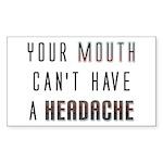 Mouth Headache Rectangle Sticker