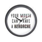 Mouth Headache Wall Clock