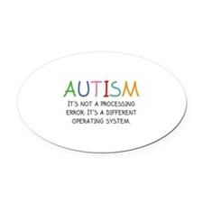 Autism Operating System Oval Car Magnet