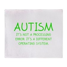 Autism Operating System Stadium Blanket
