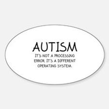 Autism Operating System Sticker (Oval)