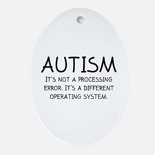 Autism Operating System Ornament (Oval)