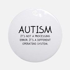 Autism Operating System Ornament (Round)