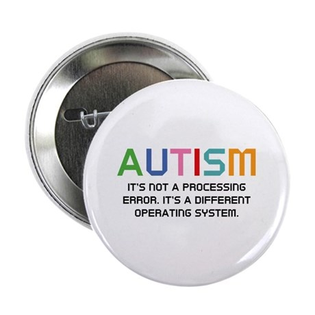 """Autism Operating System 2.25"""" Button"""