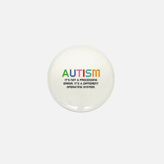 Autism Operating System Mini Button