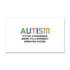 Autism Operating System Rectangle Car Magnet