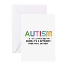 Autism Operating System Greeting Cards (Pk of 20)