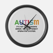 Autism Operating System Large Wall Clock