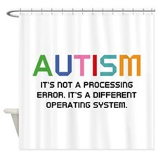 Autism Operating System Shower Curtain