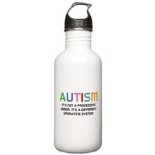 Autism Operating System Water Bottle