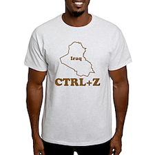Undo Iraq Ash Grey T-Shirt