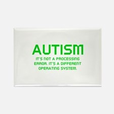 Autism Operating System Rectangle Magnet