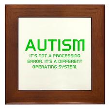 Autism Operating System Framed Tile