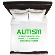 Autism Operating System King Duvet