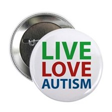 "Live Love Autism 2.25"" Button (10 pack)"
