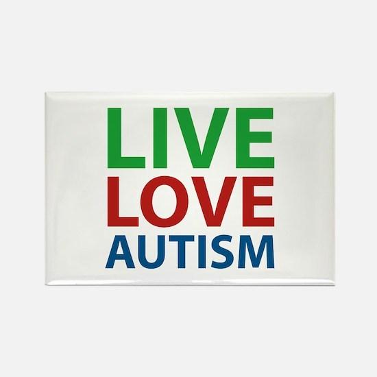 Live Love Autism Rectangle Magnet