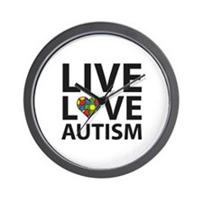 Live Love Autism Wall Clock