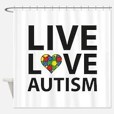 Live Love Autism Shower Curtain