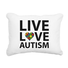 Live Love Autism Rectangular Canvas Pillow