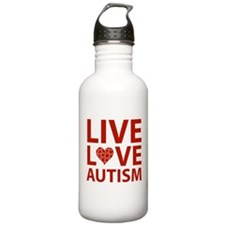 Live Love Autism Water Bottle