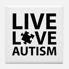 Live Love Autism Tile Coaster