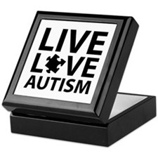 Live Love Autism Keepsake Box