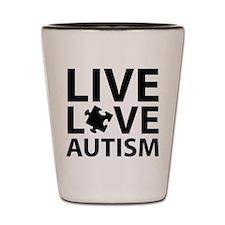 Live Love Autism Shot Glass