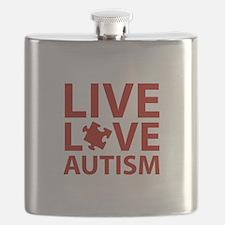 Live Love Autism Flask