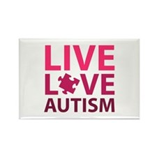 Live Love Autism Rectangle Magnet (10 pack)