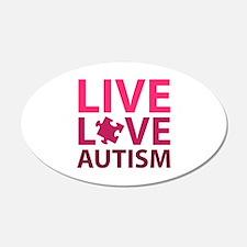 Live Love Autism 22x14 Oval Wall Peel