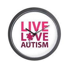 Live Love Autism Wall Clock