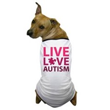 Live Love Autism Dog T-Shirt