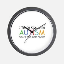 I Teach Kids With Autism Wall Clock