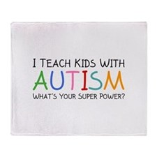 I Teach Kids With Autism Stadium Blanket