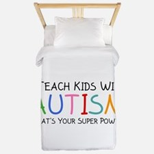 I Teach Kids With Autism Twin Duvet