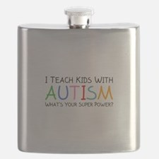I Teach Kids With Autism Flask