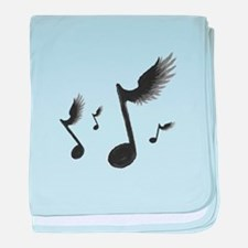 Flying Notes baby blanket