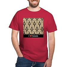 I Love Briards Dark Color T-Shirt
