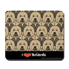 I Love Briards Mousepad