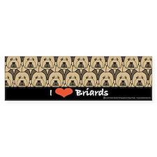 I Love Briards Bumper Bumper Sticker