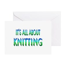 About Knitting Greeting Card