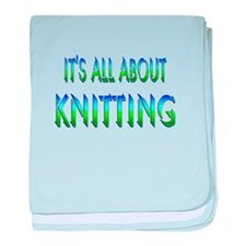 About Knitting baby blanket