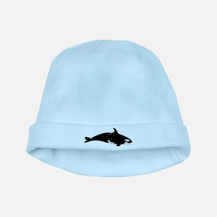 Biting Orca Whale baby hat